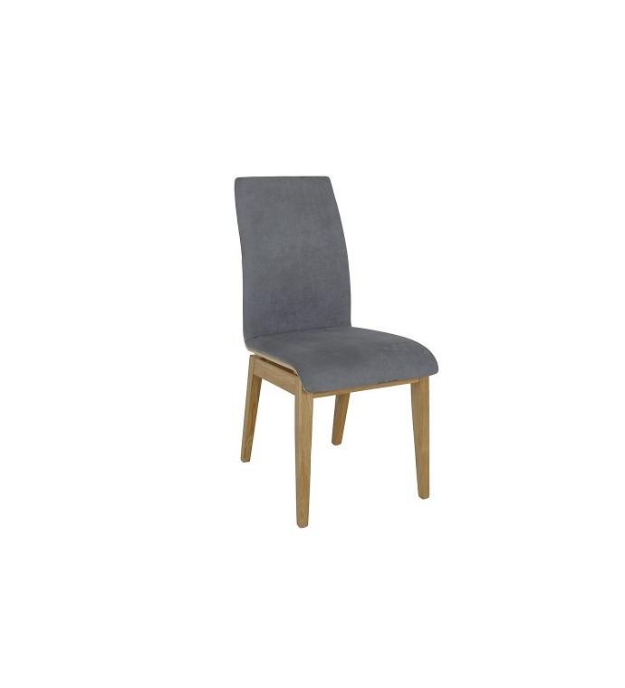 Krzesło dębowe szare