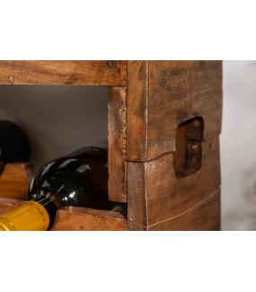 Stojak na wino Hemingway 70 cm zestaw 2 mahoń
