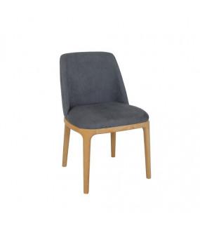 Krzesło bukowe tapicerowane szare