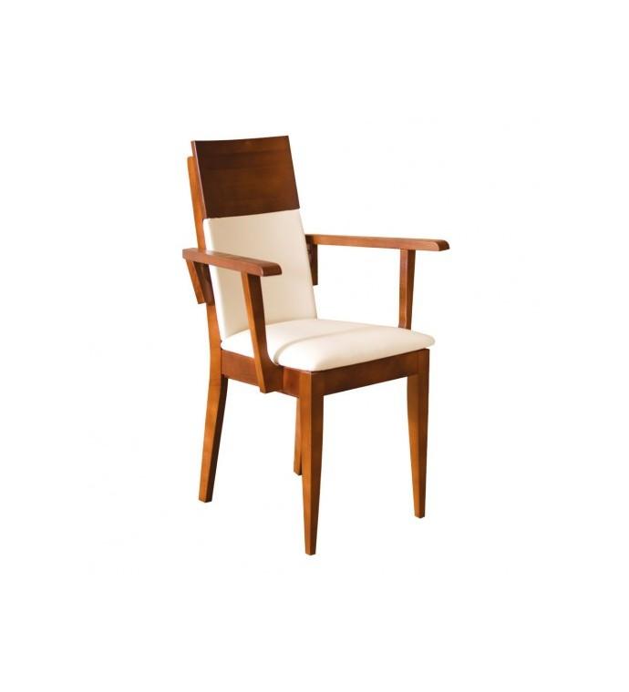 Krzesło dębowe z podłokietnikami białe