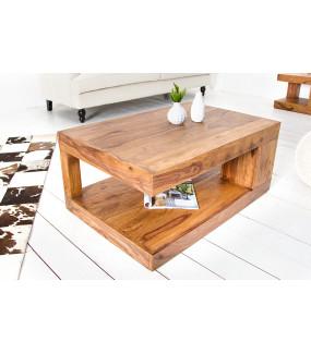 Stolik kawowy Giant XL z drewna sezamowego
