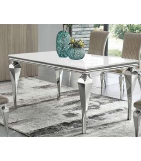 Stół barokowy biało srebrny