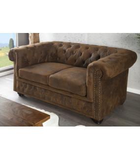 Sofa Chesterfield Antik Look antyczny brąz