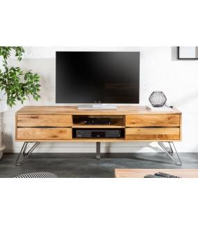 Stolik pod TV do salonu w stylu nowoczesnym. Ślicznie będzie się prezentować w pokoju zaaranżowanym w stylu  klasycznym.