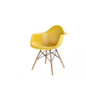 Krzesło Inspirowane DAW P018W żółte