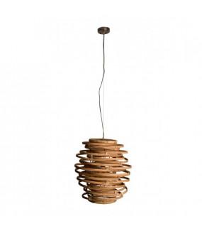 Lampa wisząca idealna do salonu w stylu boho. Sprawdzi się w nowoczesnym pokoju lub przedpokoju.