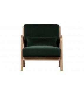 Fotel Mark Velvet Zielony