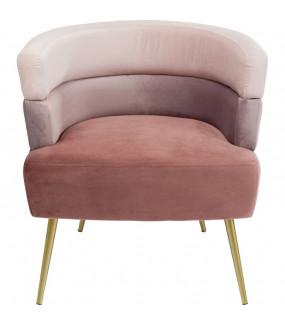 Fotel Sandwich Mauve różowy