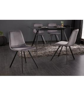 Krzesło Amsterdam ciemnoszary aksamit