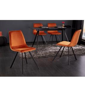 Krzesło Amsterdam pomarańczowy aksamit