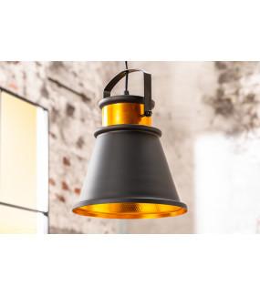 Lampa wisząca Luz II 25 cm czarne złoto