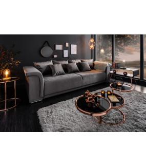 Sofa Bella 270 cm jasnoszary aksamit