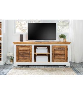 Stolik pod TV Long Island 160 cm Mango  do pokoju w stylu rustykalnym.