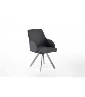 Krzesło ELARA z obrotowym siedziskiem szare