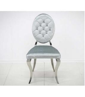 Krzesło barokowe srebrno szare