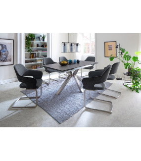 Stół rozkładany NAGANO 160 cm - 200 cm - 240 cm antracytowy