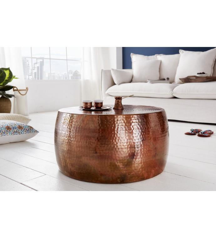 Stolik kawowy Orient III 60 cm miedziany