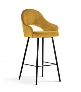 Krzesło barowe GODA z podłokietnikami do jadalni
