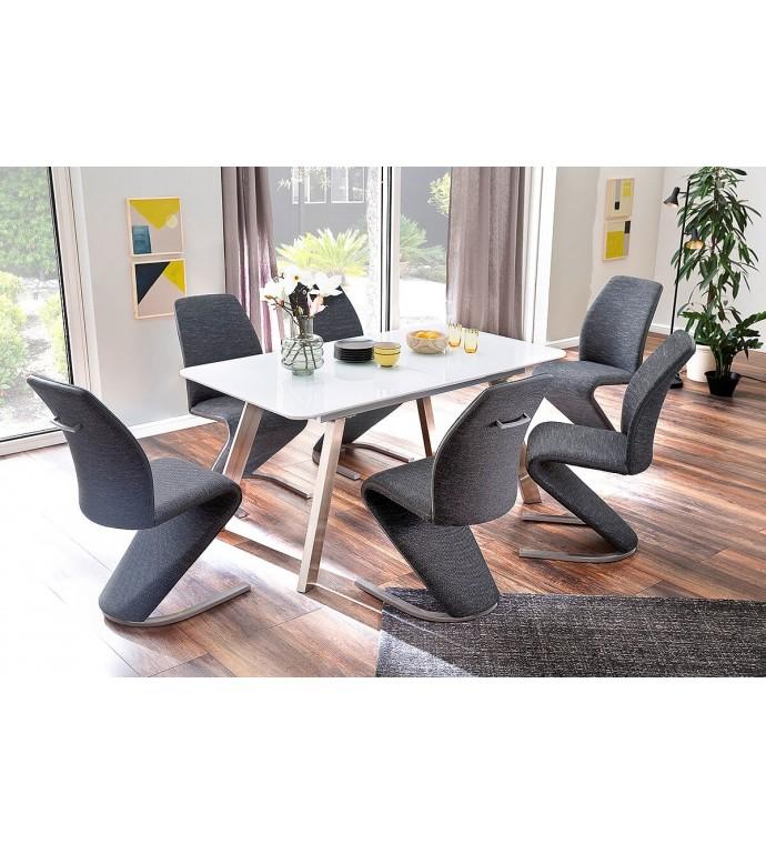 Stół rozkładany OMAHA 160 cm - 200 cm biały