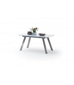 Stół rozkładany OMAHA 160 cm - 200 cm biały do salonu