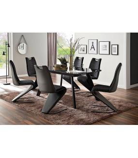 Stół rozkładany OMAHA 160 cm - 200 cm szary do salonu