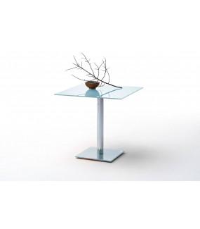 Stół szklany FION 80 cm biały