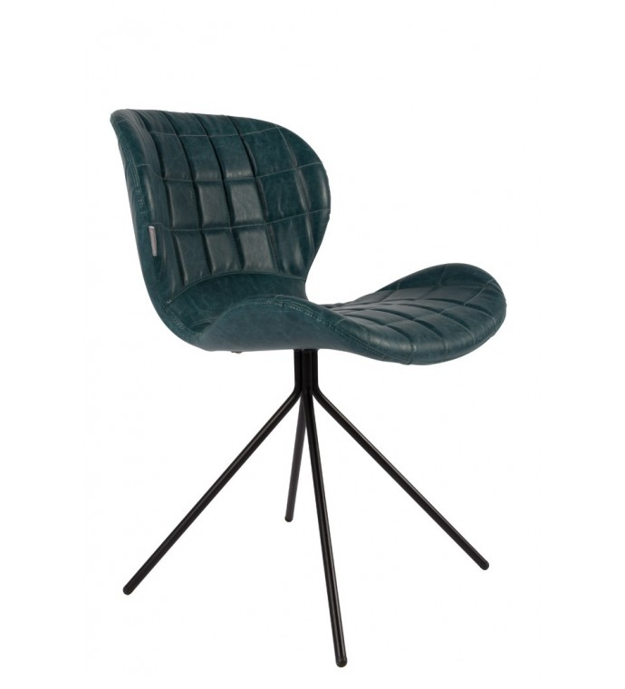 Krzesło OMG Skórzane Granatowe