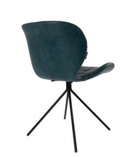 Krzesło OMG Skórzane Granatowe do salonu