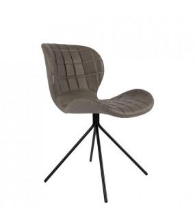 Krzesło OMG Skórzane Szare