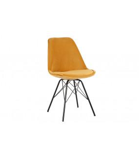 Krzesło Scandinavia Retro w kolorze musztardowym