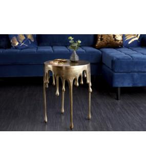 Stolik kawowy Liquid Line 51 cm złoty do salonu