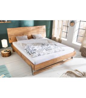 Sprawdzi się w nowoczesnej wizualizacji sypialni wnosząc naturalną paletę barw drewnianego wykończenia.