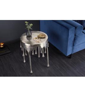 Stolik kawowy Liquid Line 51 cm srebrny