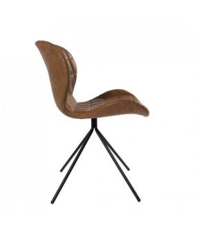 Krzesło OMG skórzane brązowe