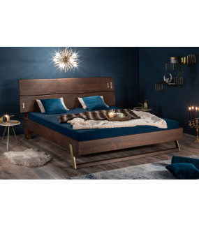 Łóżko Mammut 180 Cm X 200 Cm ciemna Akacja