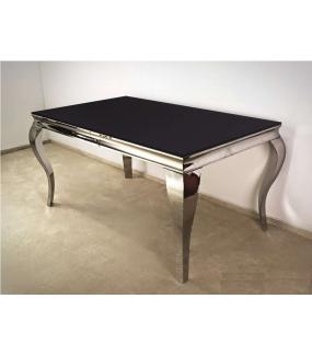 Stół Barokowy 150 cm Czarno srebrny do salonu