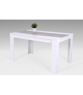 Stół LILO 138 cm biały z dodatkiem koloru szarego