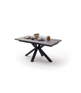 Stół Rozkładany NAGANO 160 Cm - 200 Cm - 240 Cm W Optyce ciemnego Drewna W Kolorze Naturalnym