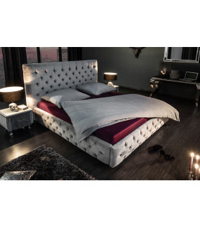 Łóżko Paris 160 Cm X 200 Cm szary Aksamit