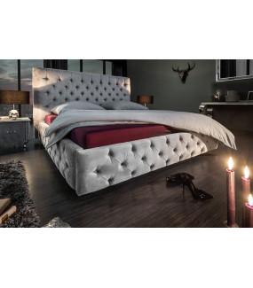 Łóżko Paris 180 cm x 200 cm szary aksamit