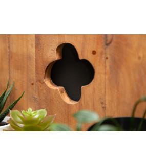Półka ścienna Hemingway 80 cm z drewna tekowego