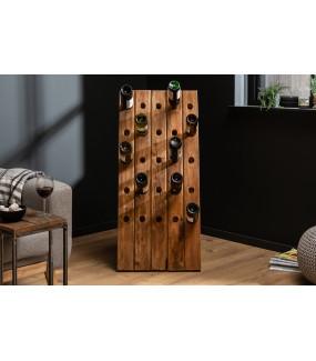 Stojak na wino Hemingway 107 cm z drewna tekowego