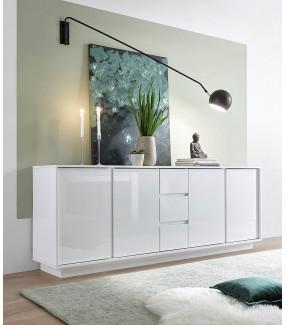 Nowoczesna komoda ICE do nowoczesnego salonu. Idealna do pokoju zaaranżowanego w stylu  skandynawskim.