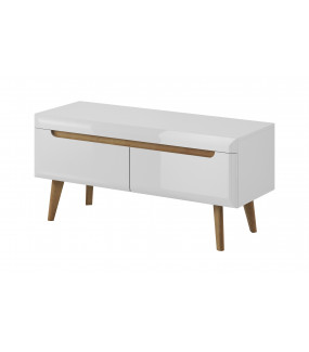 Stolik pod TV MERKURY 107 cm biały