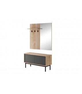 Garderoba URAN 104 Cm Grafitowa z lustrem