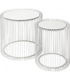 Stolik kawowy Wire zestaw 2 biały