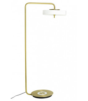 Lampa podłogowa ARTE biało-złota