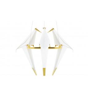 Lampa wisząca LORO biało-złota