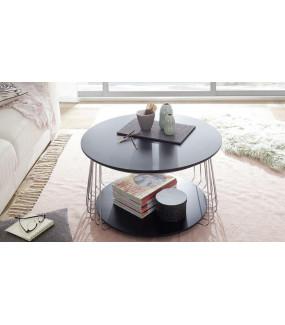 Stolik kawowy VILNIUS 70 cm czarny