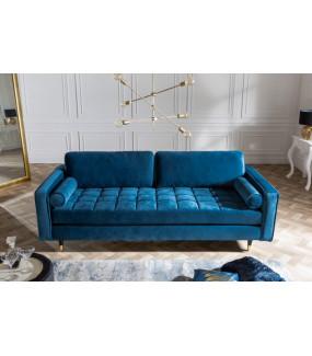 Sofa Cozy Velvet 225 cm aqua velvet